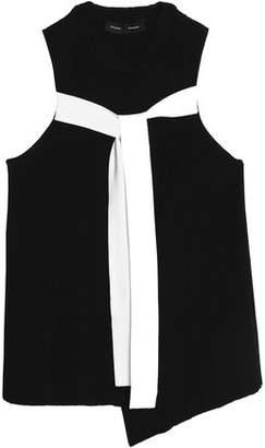 Proenza Schouler Asymmetric Draped Stretch-Knit Wrap Top