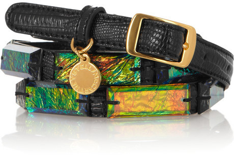 Stella McCartney Faux leather and acetate belt