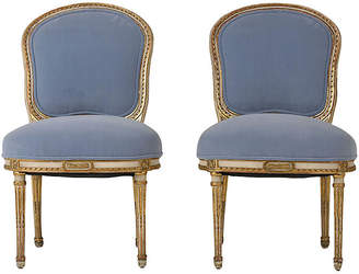 One Kings Lane Vintage Pair of Louis XVI-style Side Chairs - Castle Antiques & Design
