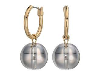 French Connection Hoop Earrings with Ball Drop