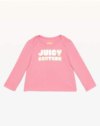 Juicy Couture Gold Foil Logo Long Sleeve Tee for Baby