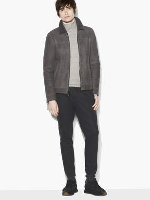 John Varvatos Shearling Zip Front Jacket