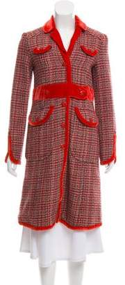 Marc Jacobs Patterned Wool Coat