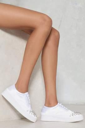 Nasty Gal Toe the Line Diamante Sneaker