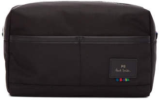 Paul Smith Black Nylon Webbing Pouch