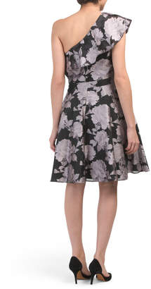 Xscape Evenings Made In Usa Ruffle Brocade Party Dress