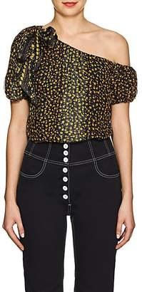 Ulla Johnson Women's Femi Floral Silk Top - Black