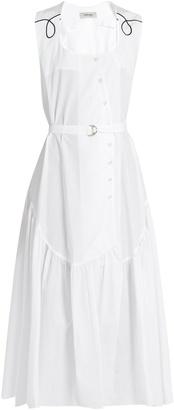 RACHEL COMEY Donner cotton-poplin button-down dress $504 thestylecure.com