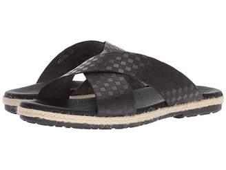 Matteo Massimo Checkered Slide Men's Sandals