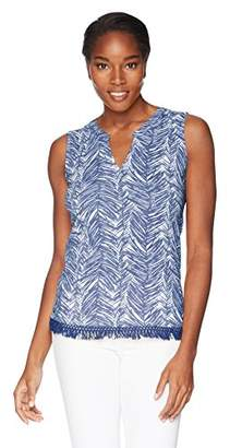 Caribbean Joe Women's Fringe Hem Tank Top