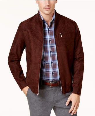 Tasso Elba Men's Faux Suede Bomber Jacket, Created for Macy's