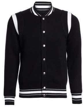 Givenchy Knit Teddy Baseball Jacket