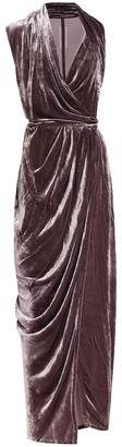 Rick Owens Limo velvet maxi dress