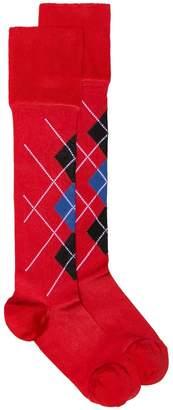 Versace Argyle socks