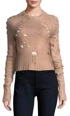 Euler Distress Crop Sweater