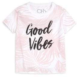 Chaser Little Girl's & Girl's Good Vibes Tee