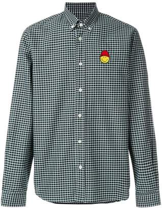 Ami Alexandre Mattiussi Button-Down Shirt Smiley Chest Patch