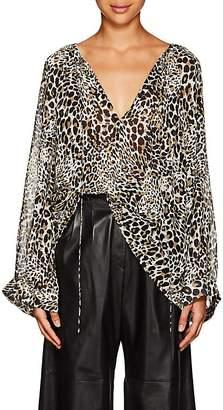 Nili Lotan Women's Acadia Leopard-Print Silk Blouse