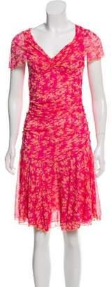 Diane von Furstenberg Cap Sleeve Midi Dress