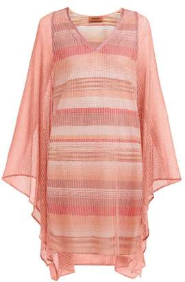 Missoni Sheer Mesh Poncho Dress - Womens - Pink