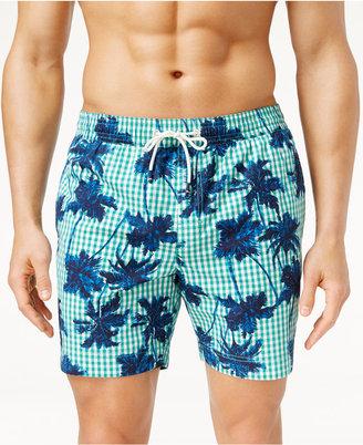 Tommy Hilfiger Men's Dixon Gingham Stretch Swim Trunks $69.50 thestylecure.com