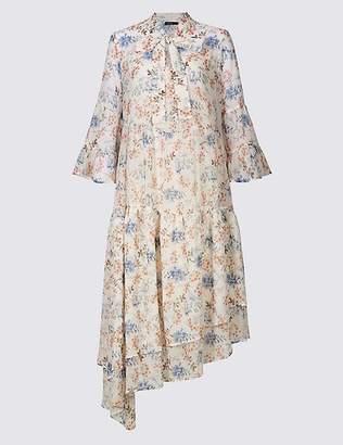 Marks and Spencer Floral Print Asymmetric Midi Dress