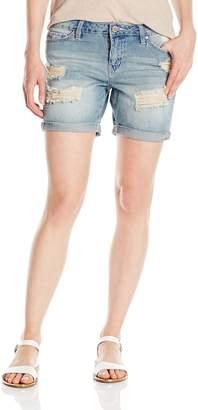 YMI Jeanswear Women's Love Single Button Boyfriend Short