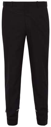 Alexander McQueen Hem Zip Cotton Trousers - Mens - Black