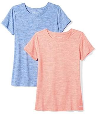 Amazon Essentials Women's 2-Pack Tech Stretch Short-Sleeve Crewneck T-Shirt Shirt