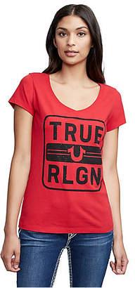 True Religion BOX ROUND V NECK TEE
