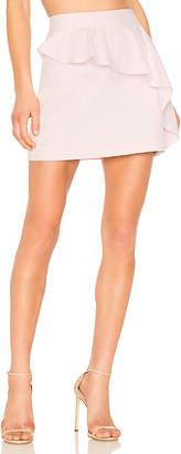 Milly Ruffle Mini Skirt