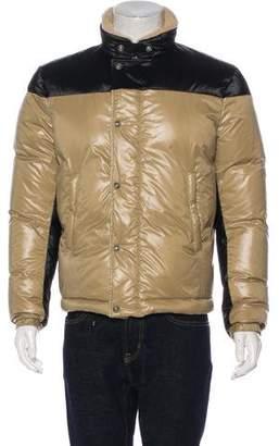 Balenciaga Shearling-Trimmed Hooded Puffer Jacket
