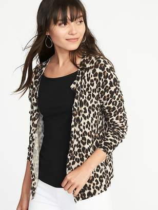 Old Navy Patterned Crew-Neck Cardi for Women