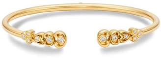 Temple St. Clair 18K Yellow Gold Dynasty Bellina Diamond Bangle Bracelet