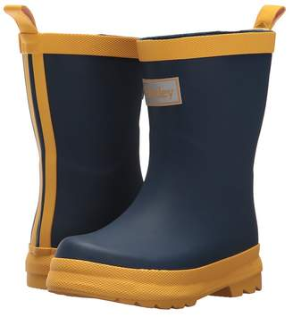 Hatley Navy and Yellow Rain Boots Kids Shoes