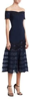 Jonathan Simkhai Embellished Off-the-Shoulder Trumpet Dress