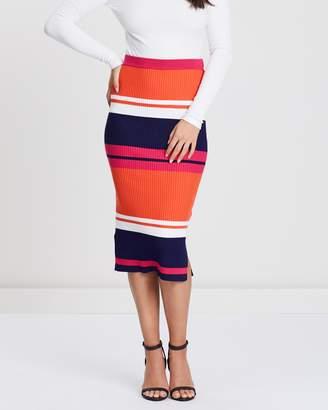 Oasis Stripe Knitted Skirt