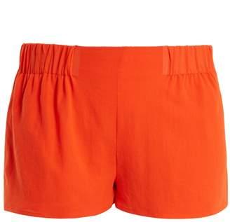 CASA NATA Elasticated-waist cotton-gauze shorts