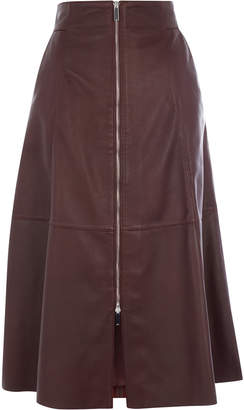 Karen Millen Midi Leather Skirt