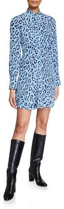 A.L.C. Marcella Zip-Front Leopard Short Dress