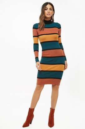 Forever 21 Striped Sweater Dress