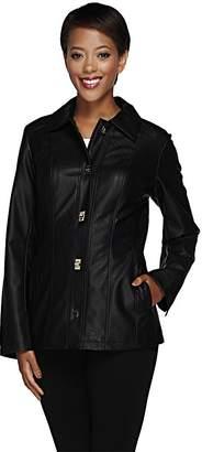 Dennis Basso Faux Leather Turn Key Jacket