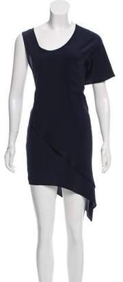 OAK Silk Asymmetrical Knee-Length Dress