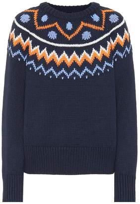 Tory Sport Fair Isle wool-blend sweater