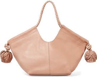 ed255cf068f Ulla Johnson Lali Mini Pompom-embellished Leather Tote - Blush