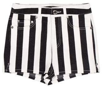 Thomas Wylde High-Rise Striped Shorts