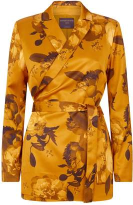 Mother of Pearl Floral Belted Jacket