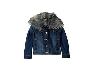 Splendid Littles Denim Jacket with Faux Fur Collar (Toddler)