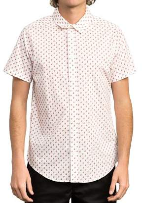 RVCA Mini Paisley Slim Fit Button-Down Shirt
