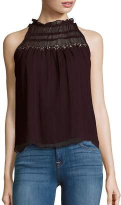 Parker Women's Sleeveless Ruffled Neck Top
